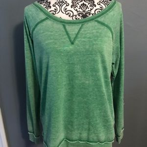 Tommy Girl Green French Terry Top Size XL